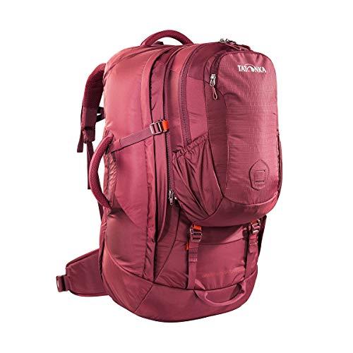 Tatonka Great Escape 60+10 - Reiserucksack mit abnehmbarem Daypack (10l) - für Herren und Damen - 70 Liter - 67 x 33 x 20 cm - Bordeaux red