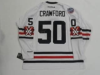 COREY CRAWFORD SIGNED 2015 CHICAGO BLACKHAWKS WINTER CLASSIC JERSEY JSA COA