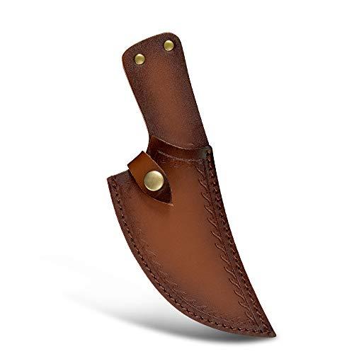 XYJ 5,5 Zoll Leder Messerscheide für Filetmesser Kochmesser Ärmel Messer Fall Klingenschutz mit Gürtelschlaufe zum Ausbeinen Schnitzmesser Einfach durchzuführen