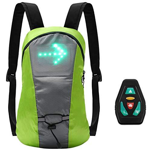 Lixada Fahrrad Rucksack mit LED Blinker Reflektierende Tasche Pack 15L Outdoor Sicherheit Nacht Reiten Lauf Camping Jogging