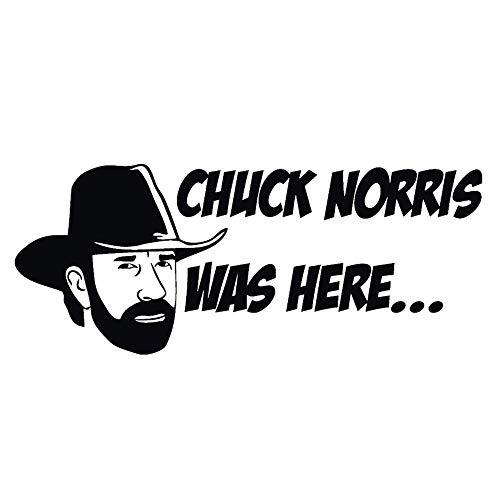 Car Stickers Chuck Norris was Here Aufkleber Car Moto Window Bumper Sticker Vinil Decals (Set of 2)