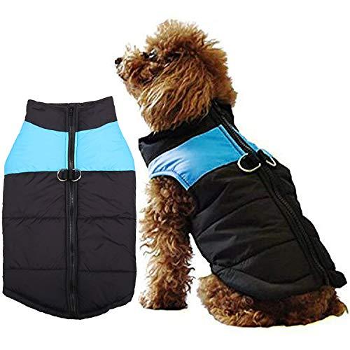 WELLXUNK® Hundemantel für Hunde, Hundejacken Wasserdicht Warme Jacke für Kleine Mittelgroße Große Hunde Winterjacke Warm Gepolstert Welpen Weste Haustier Kleidung für Kaltes Wetter (L)