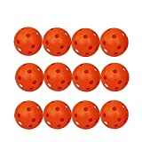 Golf Practice Balls Hollow Plastic Sports Training Ball Value 12 24 Pack, 5 inch Swing Driving Range Home Use Indoor Outdoor For Men Women Kids Yellow Blue Mixed Color (24 Pack, Orange)