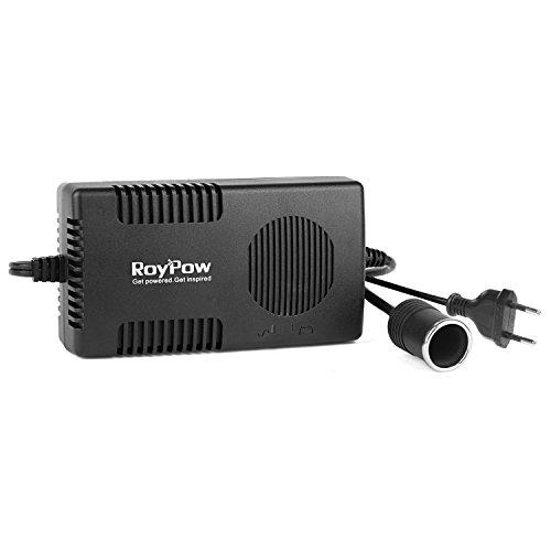 RoyPow 120W (Max 150W) Fuente de Alimentación Adaptador de Corriente alterna a Corriente continua de 220V/230V/240V a 12V Enchufe tipo mechero de coche 12V/10A CC Convertidor Transformador