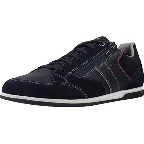 Geox Herren U Renan A Sneaker, Blau (Navy C4002), 45 EU