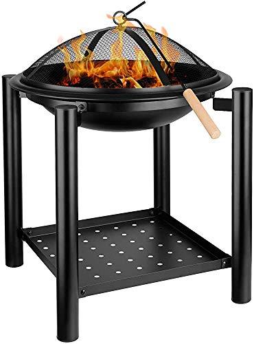 De manera simple estufa de fuego al aire libre cuadrados terraza a cielo jardín, parque infantil fuego de la barbacoa, estufa cuadrada pesada con encimeras impermeables,Fire bowl 54.5 x 54.5 x 70 cm.