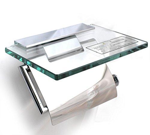 KAWAJUN カワジュン ペーパーホルダー(紙巻器) ガラス棚付ペーパーホルダー SC-273-XC