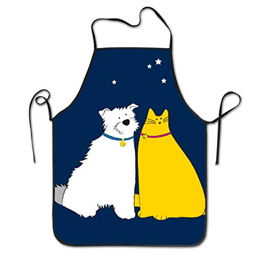 Bib Aprons Dog and Cat Workshop Apron for Carpenters Gardener Barber Chefs Waiter