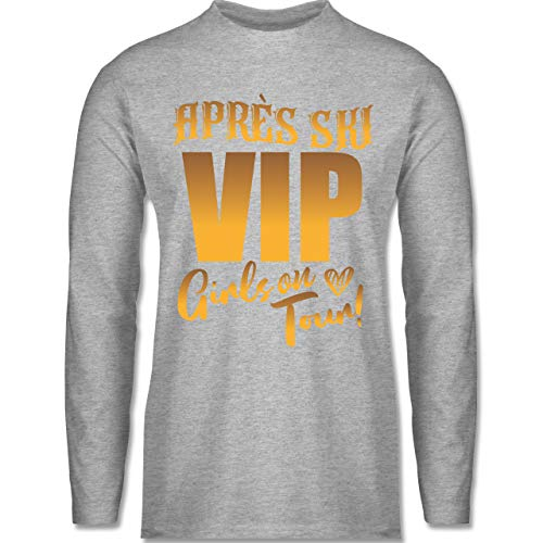 Après Ski - Après Ski - Girls on Tour - gelb - XL - Grau meliert - VIP Girls on Tour - BCTU005 - Herren Langarmshirt