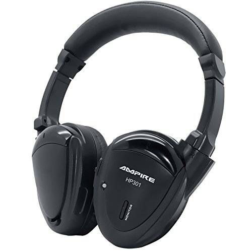 AMPIRE HP301 2-Kanal Infrarot-Kopfhörer, (faltbar, hochwertig verarbeitet, inkl. gefütterter Tasche) - perfekte Ergänzung zu unseren Kopfstützen, Deckenmonitoren & Rear-Seat-Entertainment