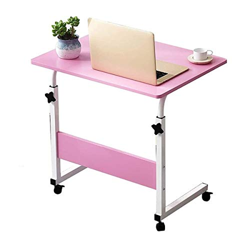 Laptop Desk With Wheels Adjustable Height Hospital Bed Table Portable Mobile Standing Desk Great For Use Or At Home As Bed Tray (Size : 80 * 50cm)