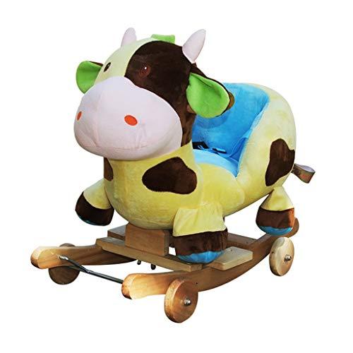 Cheval à bascule Animaux à Bascule Enfants Chaise Bébé Doux Trojan Jouet Cadeau Multipurpose Berceaux Cheval en Bois