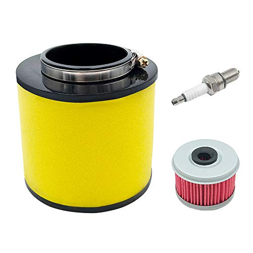Triumilynn Air Filter Including Oil Filter & Spark Plug for Honda Rancher 350/Foreman 400 & 450 1992-2000 Fourtrax 300