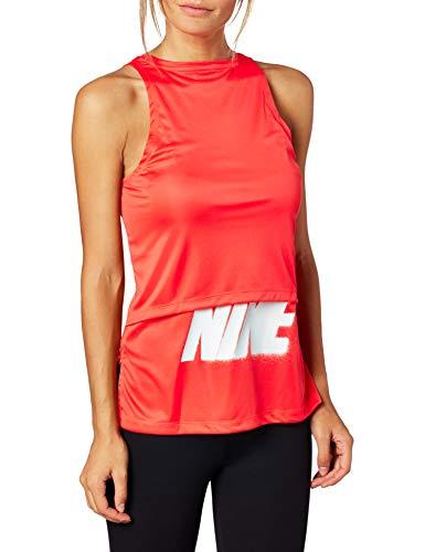 NIKE Tanktop Rebel GX Camiseta de Tirantes para Mujer, Hombre, Bright Crimson/White, Extra-Large