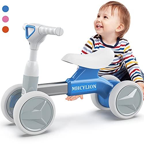 Logeeyar Bicicletta Senza Pedali, Bicicletta Equilibrio per Bambini da 12-36 Mesi, Triciclo Bambini,Prima Bici Senza Pedali, Blu