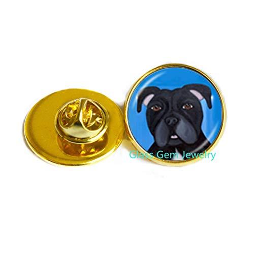 Broche para perro Pitbull Terrier American Pitbull Terrier Pet Puppy Rescue Pin Bulldog Joyería para los amantes de los animales, Q0222