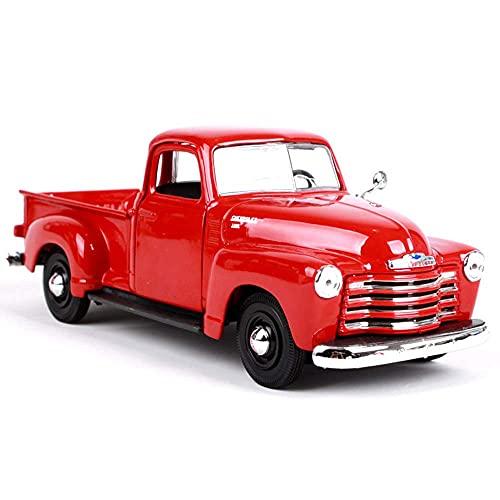 YLJJ 1:25 Modelo de Coche/Chevrolet Retro Pickup simulación aleación, Las Puertas Izquierda y Derecha se Pueden Abrir, la Cubierta Trasera Puede estático, colección Coches