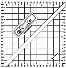 Bloc Loc - Half Square Acrylic Triangle Ruler, 5.5 Inches