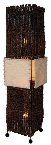 Guru-Shop Vloerlamp, Handgemaakt in Bali van Natuurlijk Materiaal - Model Benoa Klein, Rattan, 60x18x18 cm, Staande Lampen van Natuurlijke Materialen