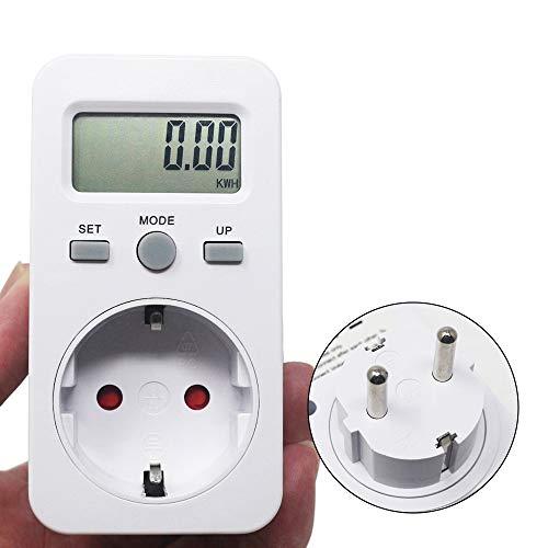 Digital-Wattmeter LCD Energy Monitor Power Meter AC 230V 16A 3680W EU-Stecker Elektro-Test Energiezähler