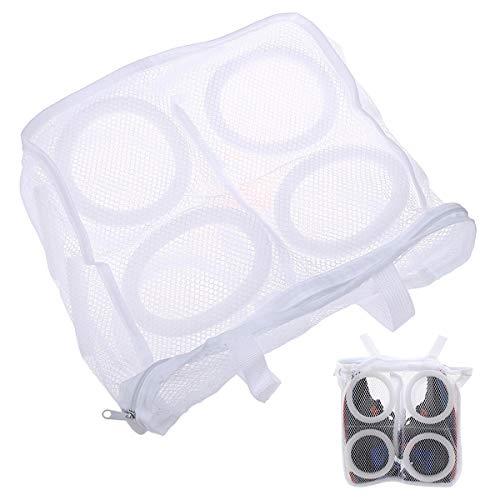 EQLEF® Wäschenetz Schuhe Protected Mesh Washing Bag mit Reißverschluss, Schuhe Waschmaschine Tasche und Organizer Tasche für Reisen 2 Stück