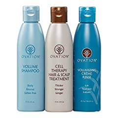 VALUE PACK: 3-pack system combines our Cell Therapy Treatment with Volume Therapy Shampoo and Creme Rinse. Gently cleanses by removing excess oil and other deposits from your hair to add volume. Creme Rinse leaves hair soft without weighing it down. ...