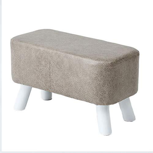 ZAIPP gevoerde Ottomaanse salontafel, kubus lederen poef gestoffeerde voet rust bank gevoerde stoel met niet-slip massief hout been