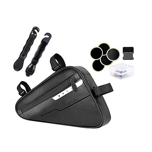 MMI-LX CXYUAN - Bolsa de marco para bicicleta de montaña, kit de triángulo para bicicleta de montaña, color