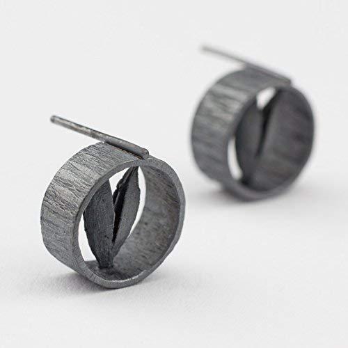 Ohrstecker Silber Statement Ohrringe ausgefallener Echt-Schmuck Goldschmied