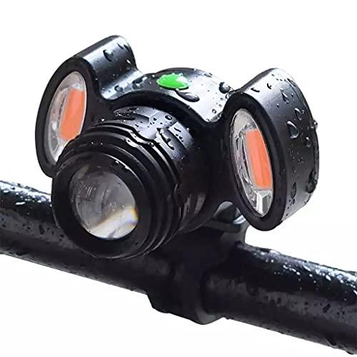 Luz de bicicleta LED recargable USB, 4 modos de iluminación ancha de 360 grados Gire la luz delantera de la luz delantera a prueba de agua, fácil de instalar para los niños para hombres Mujeres Cicl