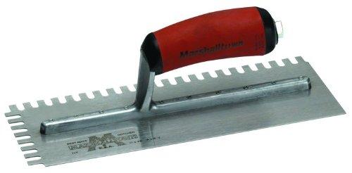 Llana dentada-U-6x13x6 mm - mango de madera curvado, acero,
