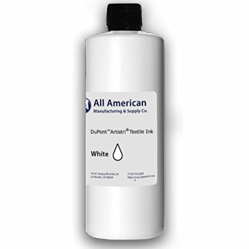 DTG Ink White 1000ml Dupont Textile Ink for Direct to Garment Printers Ink (White)