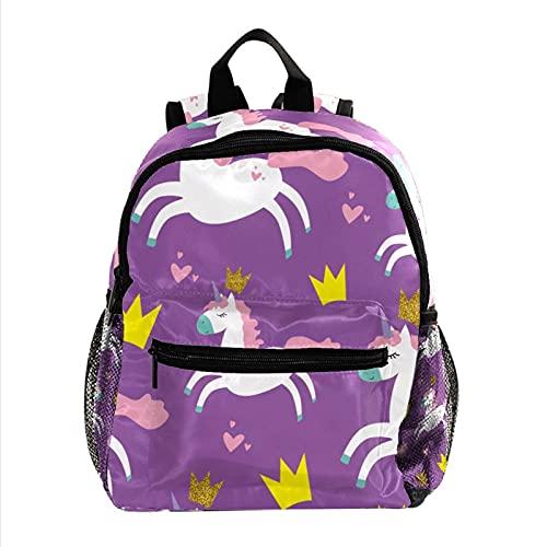 Mochilas Escolares Juveniles Princesa Unicornio Ligera Mochila Infantil Escolar Ergonómico Animal para Niños 25.4x10x30 CM