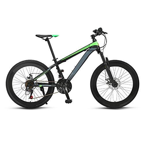 ZHANGXIAOYU Montaña Bicicletas de Carretera Bicicleta de montaña Bicicleta de Carreras de transmisión niño Adolescente (Color : Green)