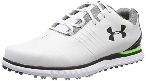 Under Armour Zapato UA Showdown SL E Negro, Golf Hombre, Blanco (White/Black/Black (100) 100), 44 EU