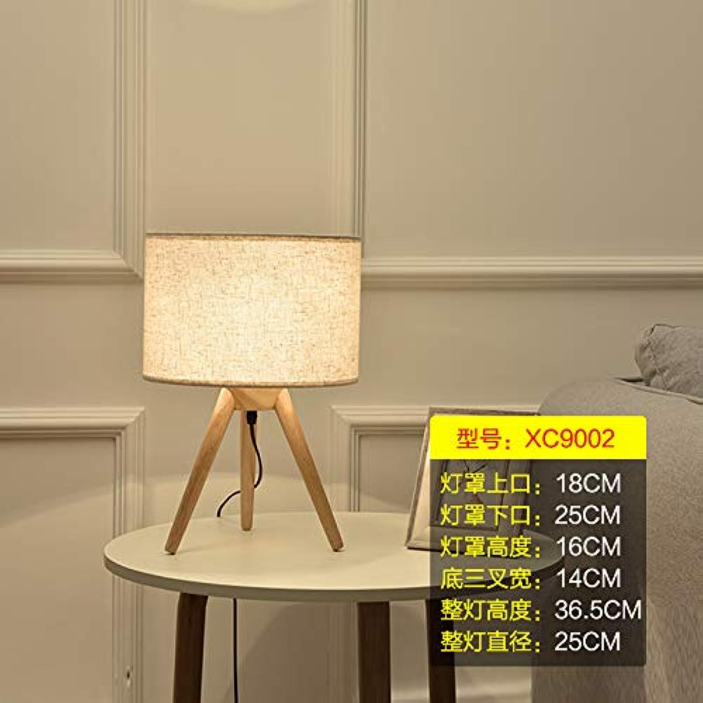Agorl Einfache moderne wohnzimmer kreative nordische studie schlafzimmer nachttischlampen, transparent XC9002 + warmes licht, druckschalter