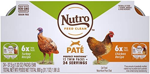 NUTRO Perfect Portions Grain Free Natural Wet Cat Food Pat product image
