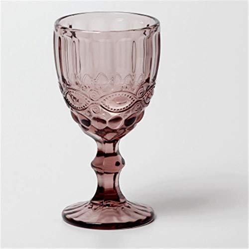 72 Stks/partij DHL Retro Vintage Relief Rode Wijn Cup Graveren Embossment Glas Huishoudelijke Drink Champagne Goblet Stijl 1 Paars