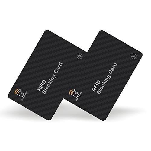 2 RFID Blocking Cards by Timeskey NFC,Contactless NFC Bank Debit Credit Card Protector Blocker, Anti...
