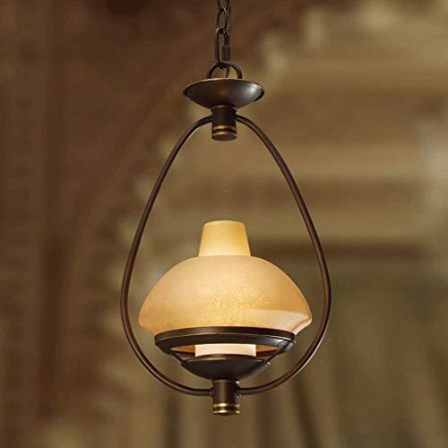 Pendelleuchte Einfacher Lichtleuchter Persönlichkeit E27 Lichtquelle Glasschirm Metallspray Deckenleuchte für Kaffee.