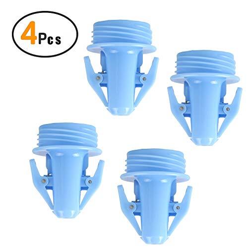 Adaptateurs de sac de stockage de lait maternel pour pompes Spectra S1 S2, pompe à bride à bouche large Avent Comfort à utiliser avec les sacs de stockage de lait maternel Lansinoh et Nuk,Blue,4Pcs