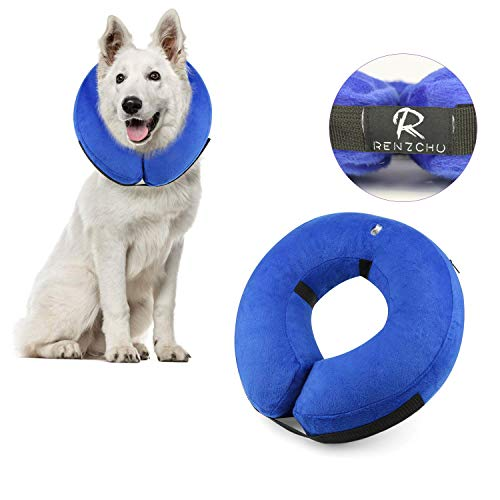 Dog Cone Collar Soft - Protective Inflatable Cone Collar for Dogs and Cats, Soft Pet Recovery E-Collar Cone Small Medium Large Dogs, Designed to Prevent Pets from Touching Stitches-Large