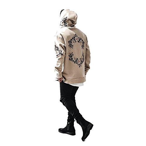 Zhen+ Hoodie Herren Kapuzenpullover Pullover Sweatjacke Hooded Sweatshirt mit Blumen Print Kapuzenpullis Oberteil Mäntel