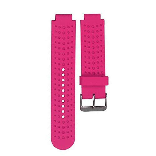 Bemodst Uhrenarmbänder für Garmin Forerunner 220 230 235 630 620 735, Silikon Ersatz Armband Sport Uhrenarmband für Smartwatch Zubehör (Rose Rot)