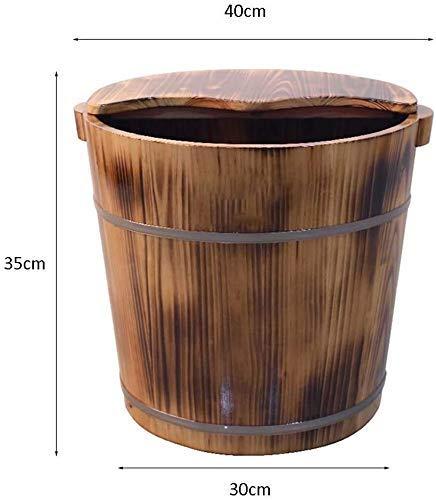 Bain de pieds bain de pieds Barrel Barrel pieds lavage Barrel Pédicure baril avec couvercle pédiluve, 40 cm hsvbkwm (Size : 40Cm)