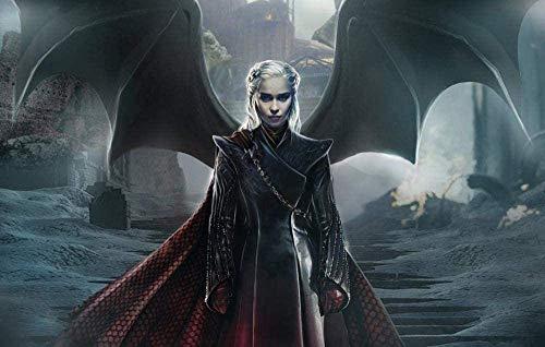 IUWAN Puzzle de 1000 Piezas para Adultos Juego de Tronos Daenerys Poster H Juegos de Puzzle para niños para familias |Juego Educativo 38x26CM
