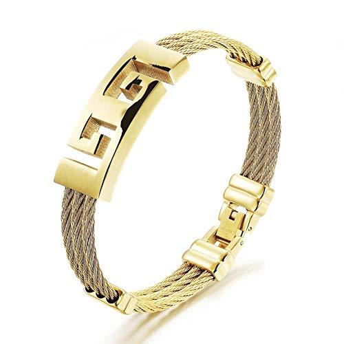 Gevlochten armband van meerlaags echt leer voor heren, modesieraad, punk, verjaardagscadeau voor vader en echtgenoot