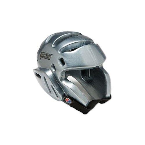 Proforce Lightning Sparring Head Guard / Headgear - Silver Large