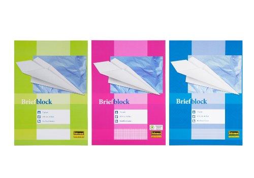 3 Briefblöcke / Schreiblock je 1x blanko, liniert, kariert DIN A4