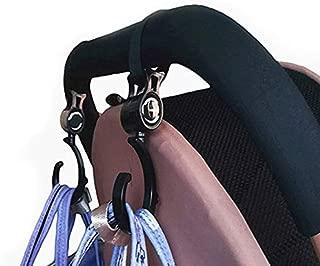 Stroller Hanger Hook with New Design 2019, 2pcs/ Hanger Bag Stroller Hooks Pram Rotate 360 Degree Baby - Baby Cart Stroller, Stroller Hooks, Hook Stroller, Lighted Rotating Ornament Hanger